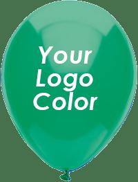 Green balloons white logo