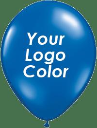 Jewel Blue balloons white logo