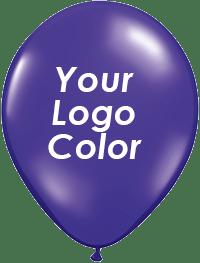Jewel Purple balloons white logo