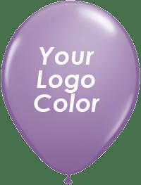 Lilac balloons white logo