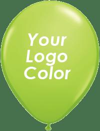 Lime balloons white logo