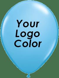 Pale blue balloons black logo