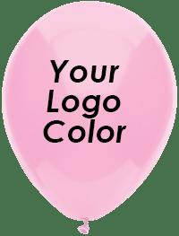 Pink balloons Black logo