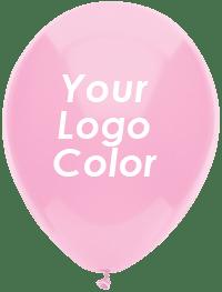 Pink balloons logo white