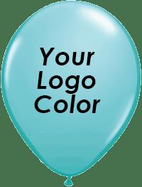 Teal balloons black logo