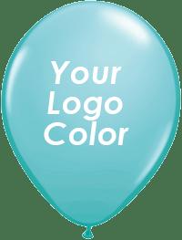 Teal balloons white logo