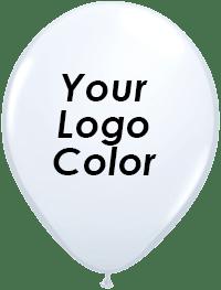White balloon black logo
