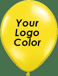 Yellow balloons black logo