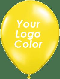 Yellow balloons white logo