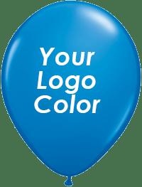 Blue balloons white logo