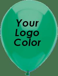 Green balloons black logo