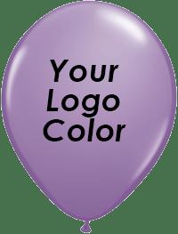 Lilac balloons black logo