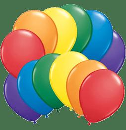 Rainbow color balloons